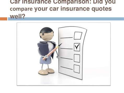 Car Insurance Comparison: Did you compare your car