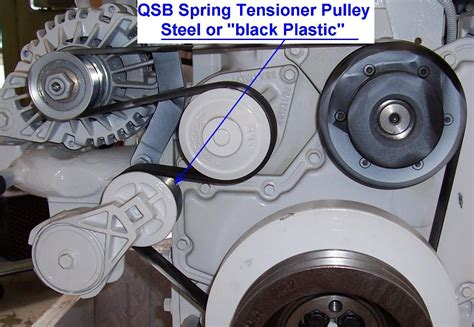 identifying  belt tensioner   qsb  seaboard