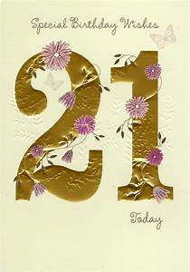 Happy 21st Birthday Greeting Card | Cards | Love Kates