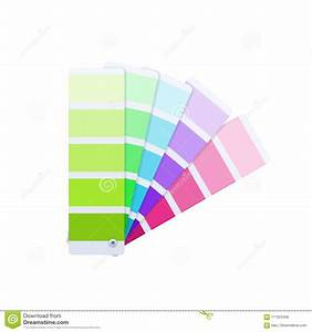 Modern Color Guide With Palette Of Paint Samples  Creative