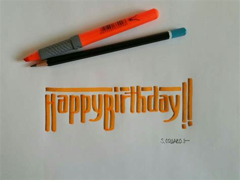 Hone your creativity with the power of adobe spark post. Happy birthday!!   Creative lettering, Lettering, Sketchbook journaling