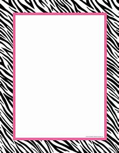 Free Zebra Borders - Cliparts.co