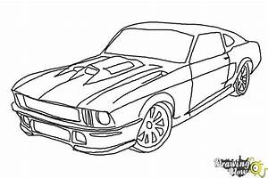 How to Draw a Ford Mustang - DrawingNow