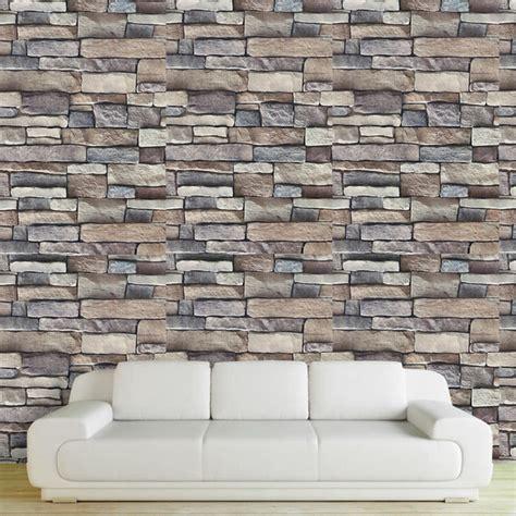 cm  adhesive  brick stone wall stickers pvc