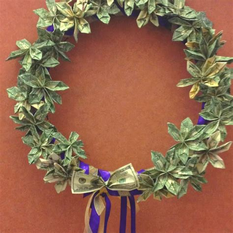 flower money wreath diy christmas gifts money flowers