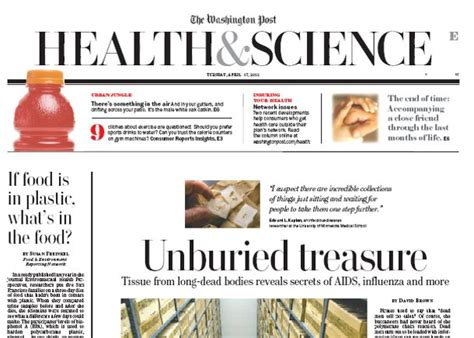 washington post health section health and science section newspaper in education