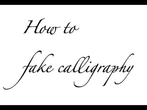 How To Fake Calligraphy Youtube