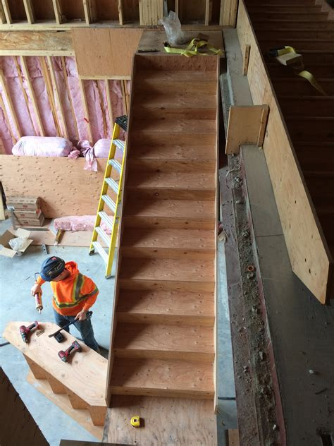 prefab construction grade stairs plytech stairs