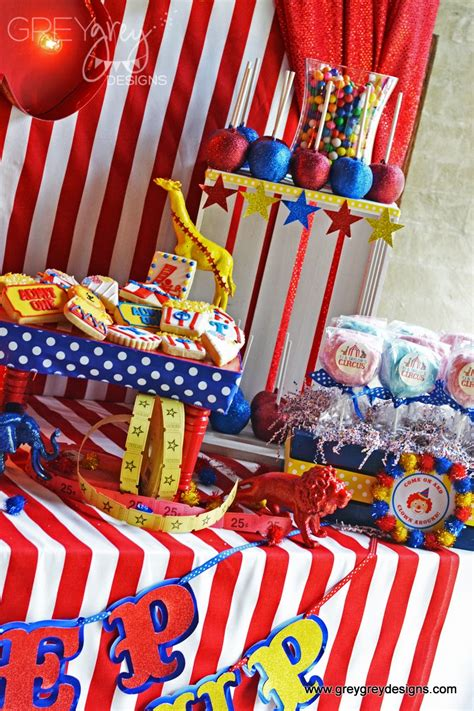 greygrey designs  parties tj  taylors circus