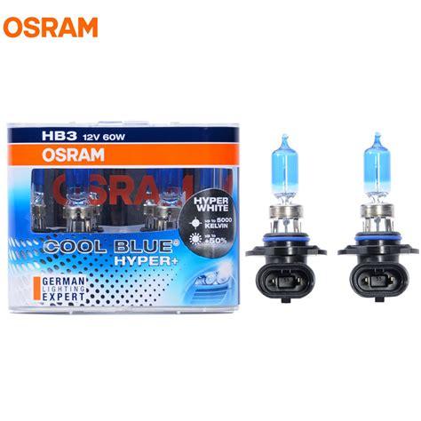cool blue light bulbs osram 9005 hb3 5000k 12v 60w cool blue hyper halogen bulbs