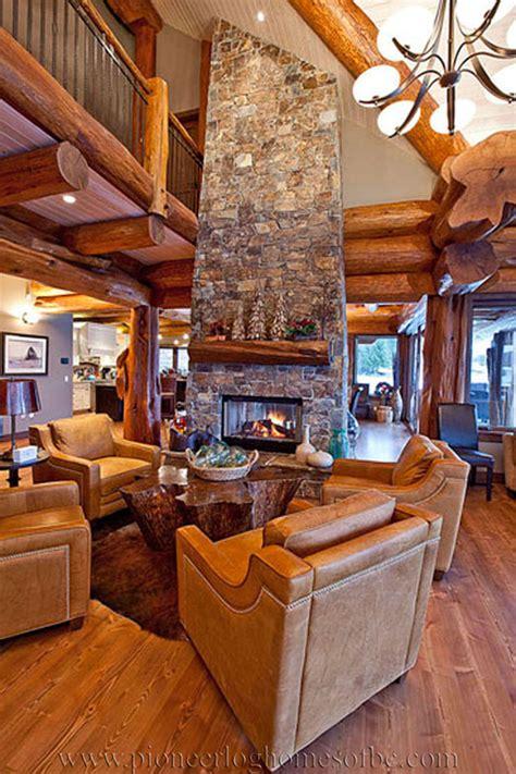 log cabin style living room loft designs bc canada