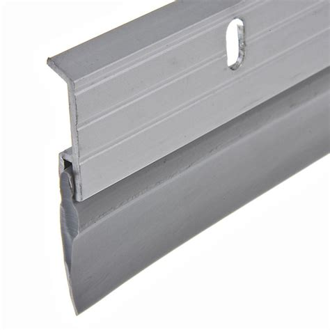 king door sweep king e o 1 5 8 in x 36 in aluminum brushed chrome
