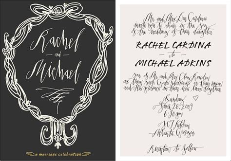 calligraphy Minimal wedding decor Wedding invitation