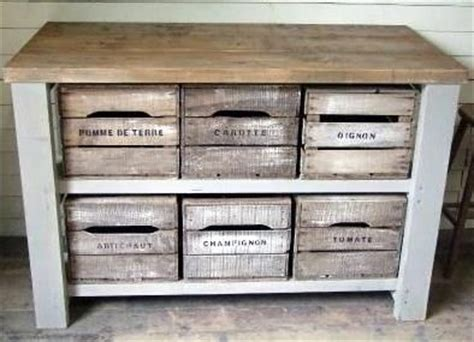 side cabinet   pallets  wine crates
