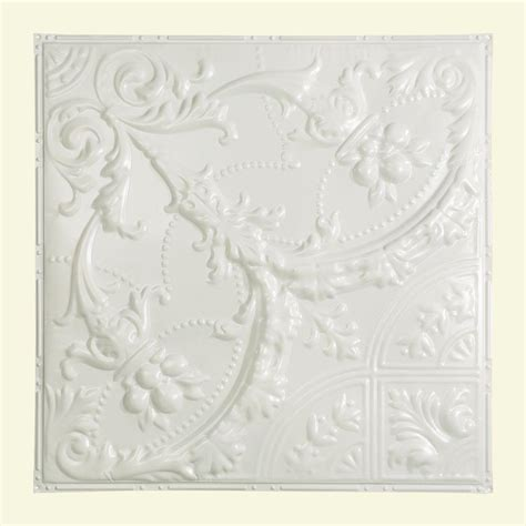 White Tin Ceiling Tiles Home Depot by Great Lakes Tin Saginaw 2 Ft X 2 Ft Nail Up Tin Ceiling