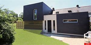laurence desforges architecte extension rez de chaussee With photo bardage bois exterieur 10 creation dun sas dentree