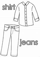 Clothes Worksheets Coloring Colouring Worksheet Pages Sheet Pants Shirt Printable Cd Grade Rom sketch template