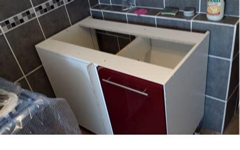 montage cuisine castorama meuble d angle mettre évier question