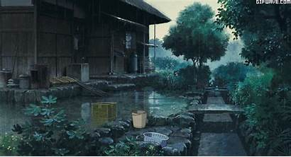 Ghibli Rain Studio Miyazaki Yesterday Hayao Night