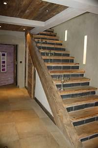 Escalier Droit Bois : escalier droit et quart tournant vieux bois ~ Premium-room.com Idées de Décoration