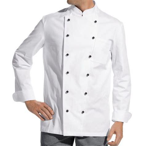 acheter veste de cuisine veste de cuisine manches longues 100 coton boutons boule