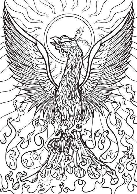 phoenix stock vector illustration  decorative bird