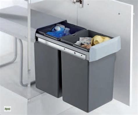Wesco Double Boy 2x15l Küchen Abfalleimer 30-er