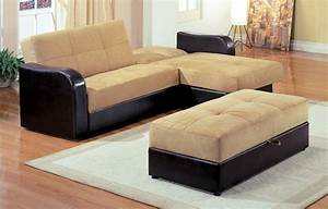 Light Brown Shaped Couch Bed Black Leather Base Ottoman White Carpet Tile Choose Right L Shaped Sofa Bed