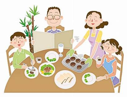Eating Cartoon Meal Clipart Illustration Together Clip