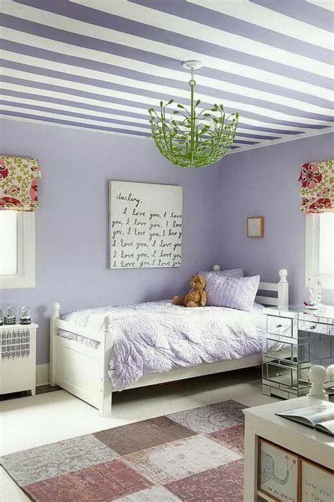 chambre bleu violet chambre pour fille en style shabby chic