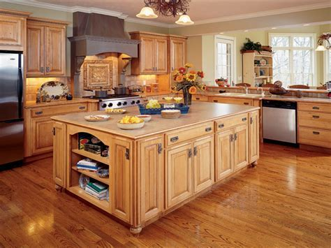 Rustic red kitchens, glazed maple kitchen cabinets natural