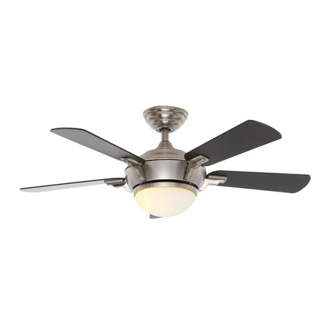 44 ceiling fan with light hton bay midili 44 in led indoor brushed nickel