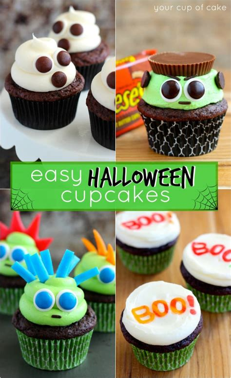 cupcake designs easy easy halloween cupcake ideas your cup of cake