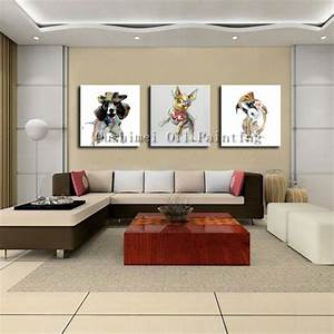 Hand, Painted, Picture, On, Canvas, Modern, Dog, Animal, Wall, Art, Painting, For, Living, Room, Hang