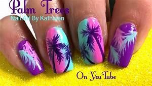 Palm Tree Nail Art - DIY Summer Nails - YouTube