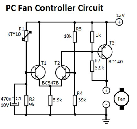 Pc Cooling Fan Wiring Diagram by Pc Fan Controller Circuit
