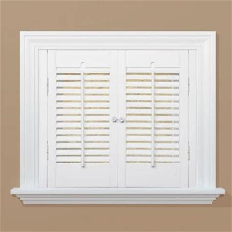 home depot wood shutters interior homebasics traditional wood interior shutter