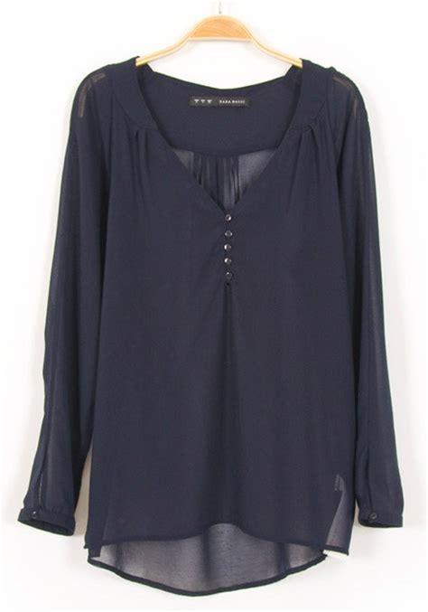 navy blouses blue chiffon blouse silk blouses