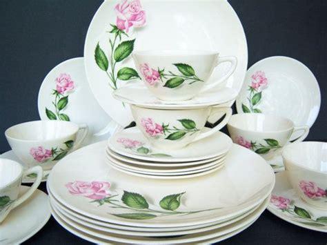 shabby chic dinner set beautiful shabby chic pink rose dinnerware set mid century dinnerware service for six