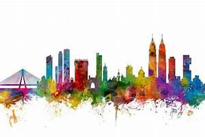 Mumbai Skyline India Bombay Digital Art by Michael Tompsett