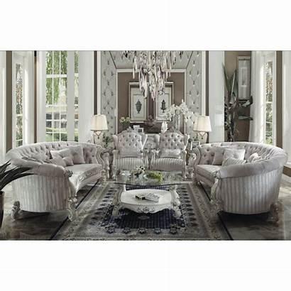 Sofa Oval Versailles Living Ivory Furniture Velvet