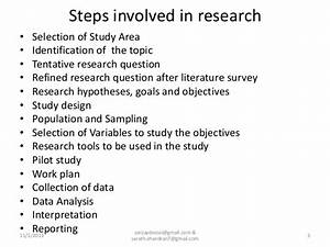 Research Methodology For Project Work For Undergraduate