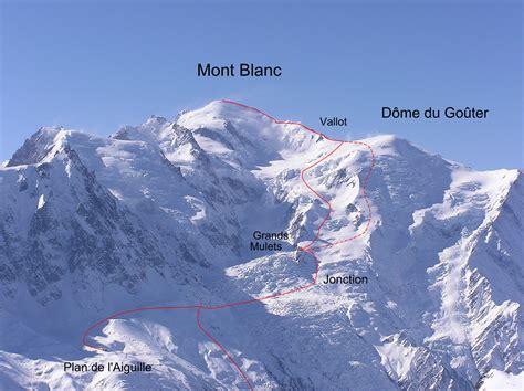 taille du mont blanc mont blanc par les grands mulets itin 233 raire classique itin 233 raire topo ctoc org