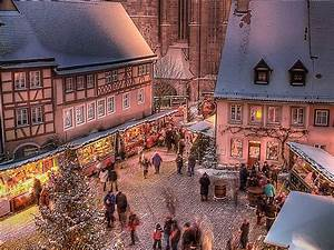 Bavaria southern Germany - Christmas market Rothenburg 2017