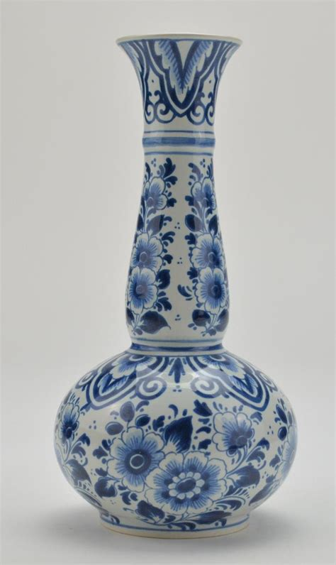 blue and white floor l delft blue and white floral vase 391 9 quot tall