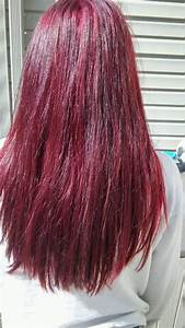 Red Hair Loreal Hicolor Highlights Magenta Red Violet