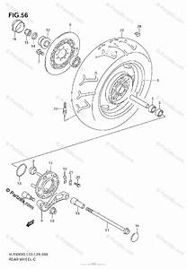 Suzuki Motorcycle 2005 Oem Parts Diagram For Rear Wheel
