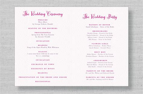 modern wedding program templates modern wedding program wording www imgkid the image kid has it