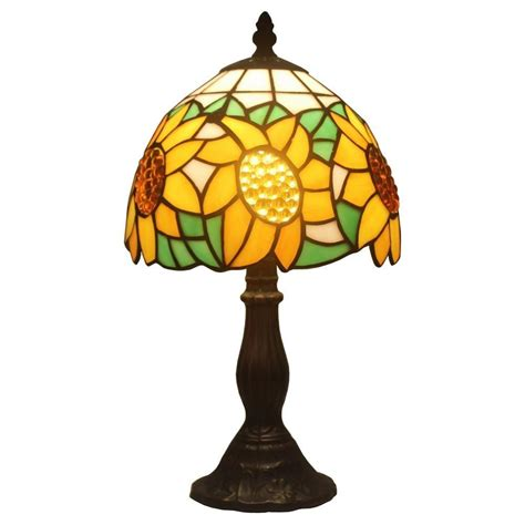 tiffany style lava l amora lighting 15 in tiffany style sunflower table l