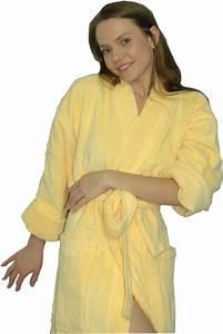 Bademantel Für Damen : bademantel f r damen und herren zeitlos gelb bademantel kimono badem ntel ~ Buech-reservation.com Haus und Dekorationen